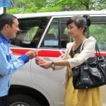 Lái xe taxi group trung thực
