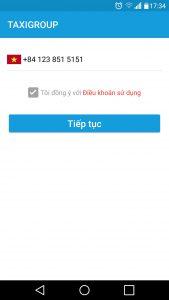 Nhap so dien thoai tren Taxi Group App 169x300 - Hướng dẫn tải và cài đặt ứng dụng Taxi Group App